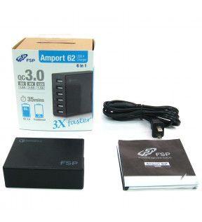 FSP Amport 62 Noir Hub 6 Ports USB *PNA0620100