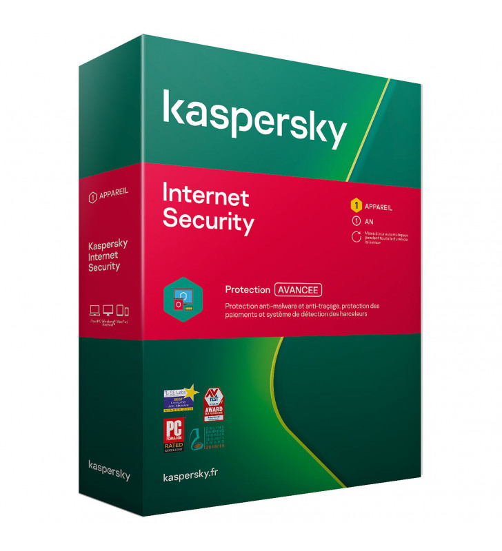 Kaspersky Internet Security 2020 1Poste/1An KASPERSKY - 1