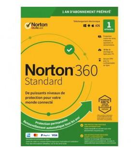 NORTON 360 STANDARD 10GB BOITE 1 AN 1 DEVICE NORTON - 1
